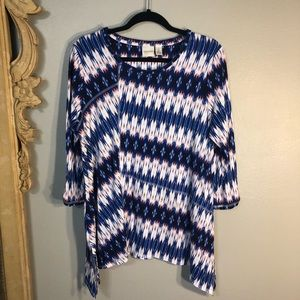 Exciting ZENERGY by Chico's 3/4 tab sleeve Top.